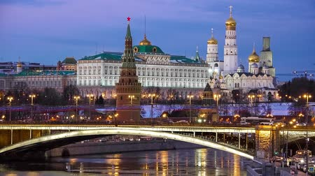 kreml : Moscow Kremlin night view