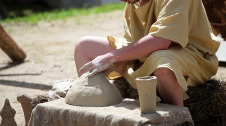 alkotás : Pottery works. Pottery creation process, handmade