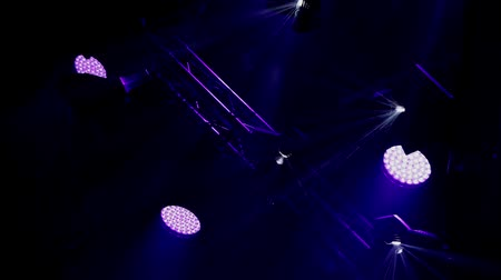 жить : Rock concert and disco party stage blue lights