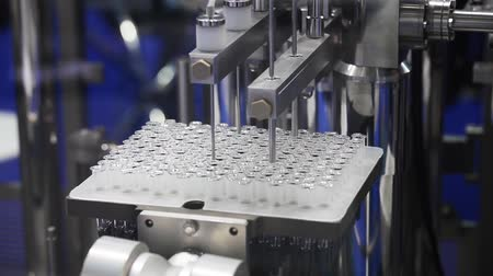 pharmaceuticals : Filling machine, pharmaceutical equipment Stock Footage