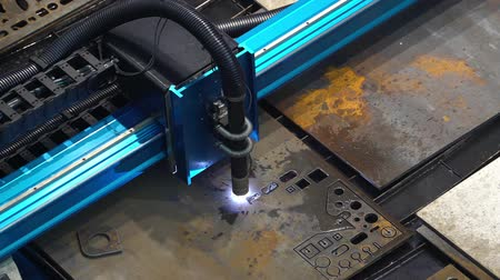 vágás : Laser cutting machine Stock mozgókép
