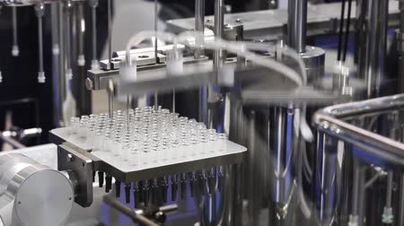 pharmaceuticals : Pharmaceutical equipment, filling machine Stock Footage