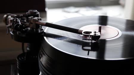 rpm : Retro Vinyl player Stock Footage