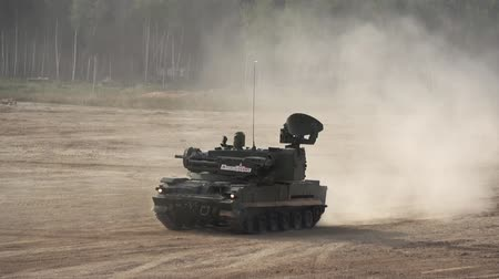 war tank : Tanks driving on the road on International Military Forum in Moscow region, Russia