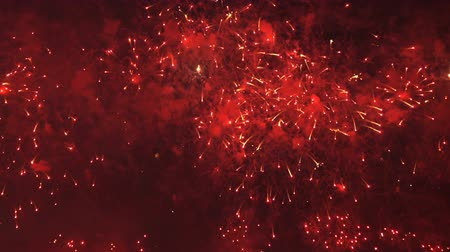 четверть : Colorful pyrotechnic show Стоковые видеозаписи