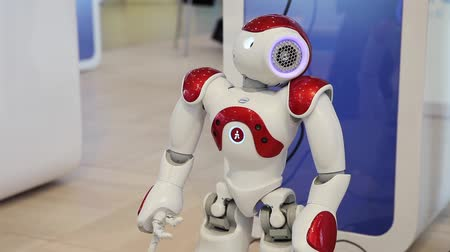 intel : NAO humanoid robot by Intel. Robot can dance, move and speak