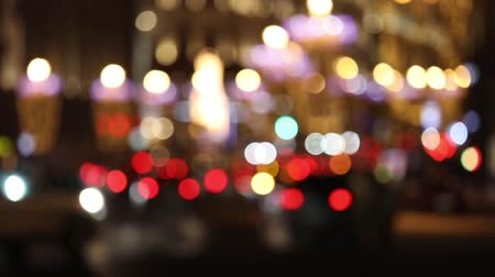 Unfocused traffic lights