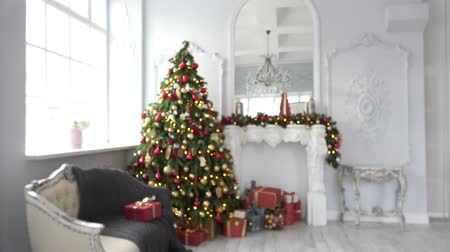 fireplace : Christmas and New Year interior decoration