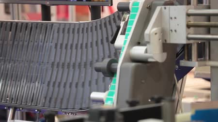 paketleme : Labeling and marking equipmet Stok Video