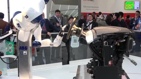 trade show : IBG presenting robot and human collaboration on Messe fair in Hannover, Germany