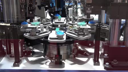 Schunk assembly electronics line on Messe fair in Hannover, Germany