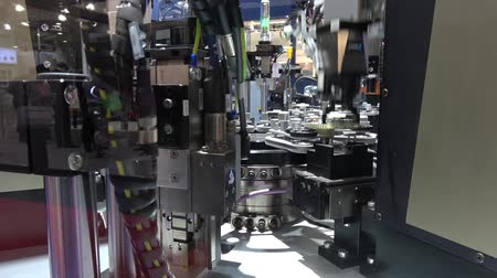 senzor : Schunk assembly electronics line on Messe fair in Hannover, Germany