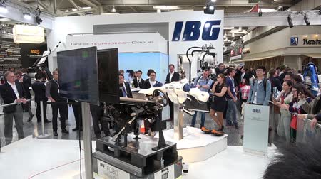 IBG presenting robot and human collaboration on Messe fair in Hannover, Germany
