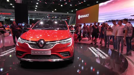 New car Renault Arkana on exhibition stand on Moscow International Automobile Salon 2018 in Russia