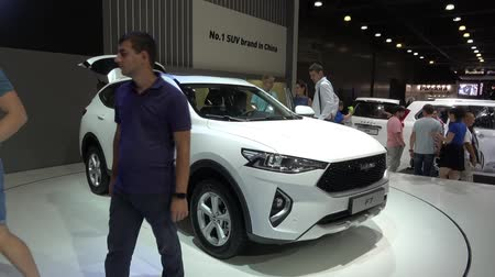 Haval F7 car presentation on Moscow International Automobile Salon 2018 in Russia