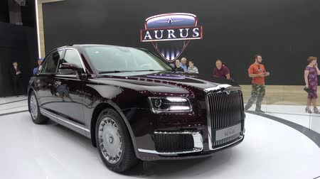 Aurus Senat car on Moscow International Automobile Salon 2018 in Russia