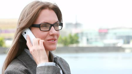 элегантный : Confident business lady settling business matters by phone