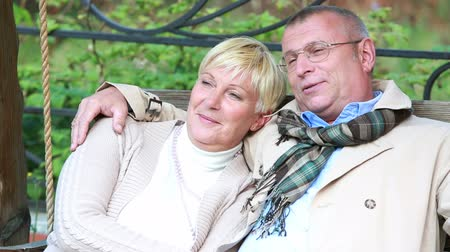 emekli : Lovely senior couple enjoying peaceful retirement Stok Video
