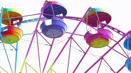 pneu : Ferris Wheel of bright color on a white background