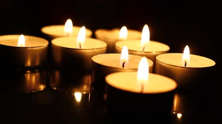santo : Candles in the dark. Stock Footage