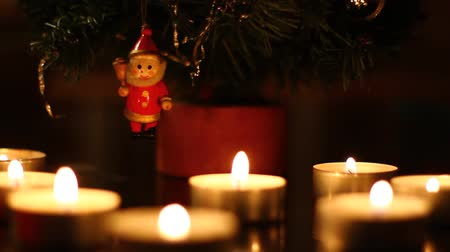 vetor : Christmas figure on a tree. Stock Footage