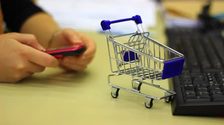 bustine : Un concetto di shopping del Internet.