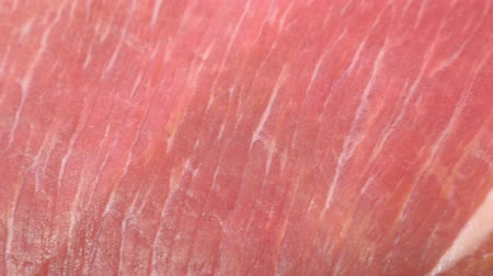 marbling : Showcase in the store. Meat pork, beef, poultry. Close-up in retail. Stock Footage
