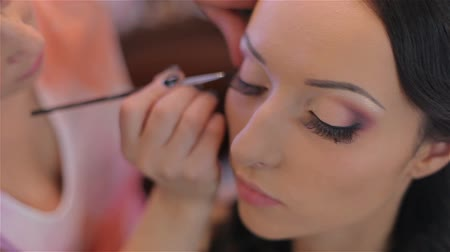 косметика : beautiful bride wedding make-up by make-up artist HD