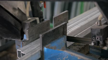chloride : Cutting metal profiles for metal windows HD Stock Footage