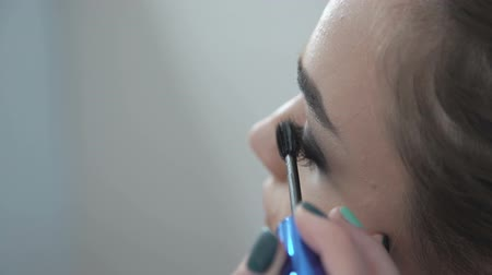 makijaż : Makeup artist putting on mascara Wideo
