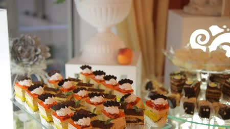 bankett : Buffet with sweets on the wedding close up