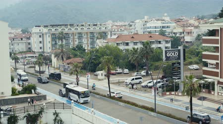 JUNE 15TH, 2018 - TURKEY, MARMARIS: View of a modern city life Vídeos