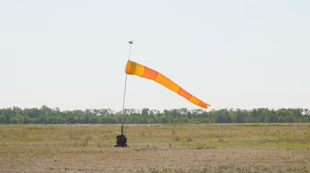 lapát : Windsock at the airport against a light sky