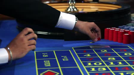 рулетка : Close up of betting at casinos roulette