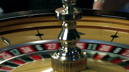 pneu : Roulette in casino spinning Stock Footage