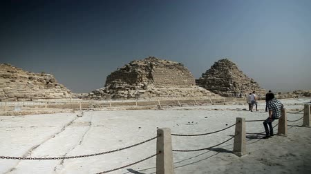 prehistory : EGYPT - APRIL 28: Wrecked pyramids in Egypt