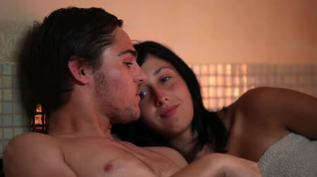 tutku : HD1080p: Couple in love relaxing in a private wellness