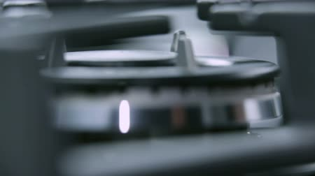 cooktop : Gas cooker cooktop extreme close up