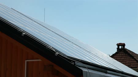 panele : Solar power station on the roof Wideo