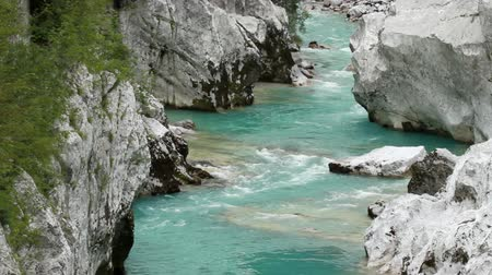 kopec : Extraordinary water stream on Soca river in Europe
