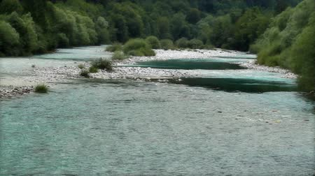 hidro : Breathtaking river-bed Stok Video