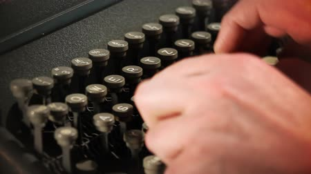 letras : Close up of typing on typewriter
