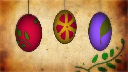 wielkanoc tło : Animation of Easter eggs