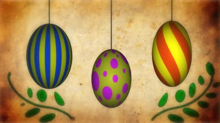 úponka : Spinning Easter eggs with growing tendrils animation