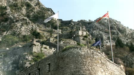 Черногория : Beautiful castle in Montenegro. Стоковые видеозаписи