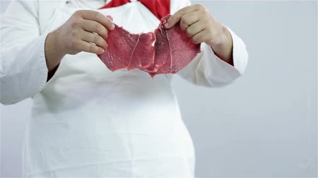 kasap : Butcher showing nice cut of beef