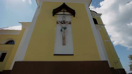 templomtorony : Close shot of a small christian church