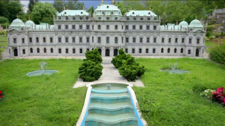 saray : Model of outstanding Belvedere Palace in Vienna, Austria located in Minimundus in Klagenfurt, Austria