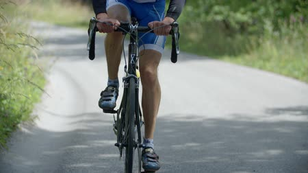 быстрый : EVENT VRHNIKA JULY  2015: Here you can see the rider in cycling marathon how to cycling in the nature. Стоковые видеозаписи