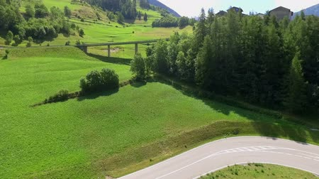 dem : A road in the middle of nature which is leading uphill. There is a lot of greeness around it. Stock Footage